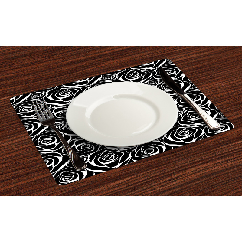 Abstract Art Rose Flowers Place Mats