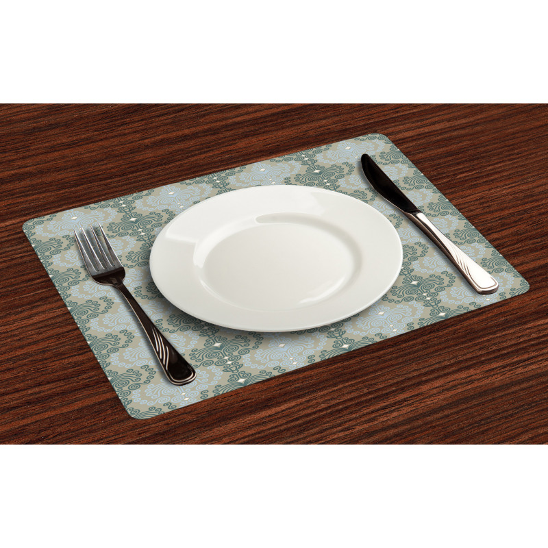 Abstract Art Floral Place Mats