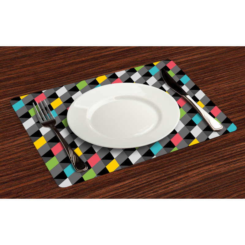 Abstract Art Style Place Mats