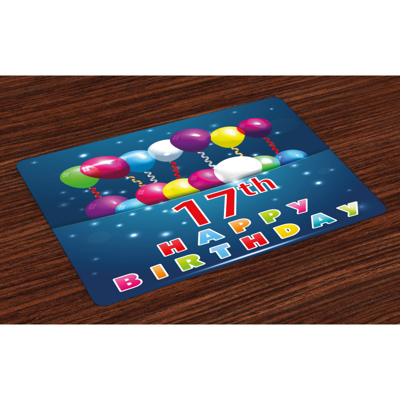 17 Birthday Place Mats