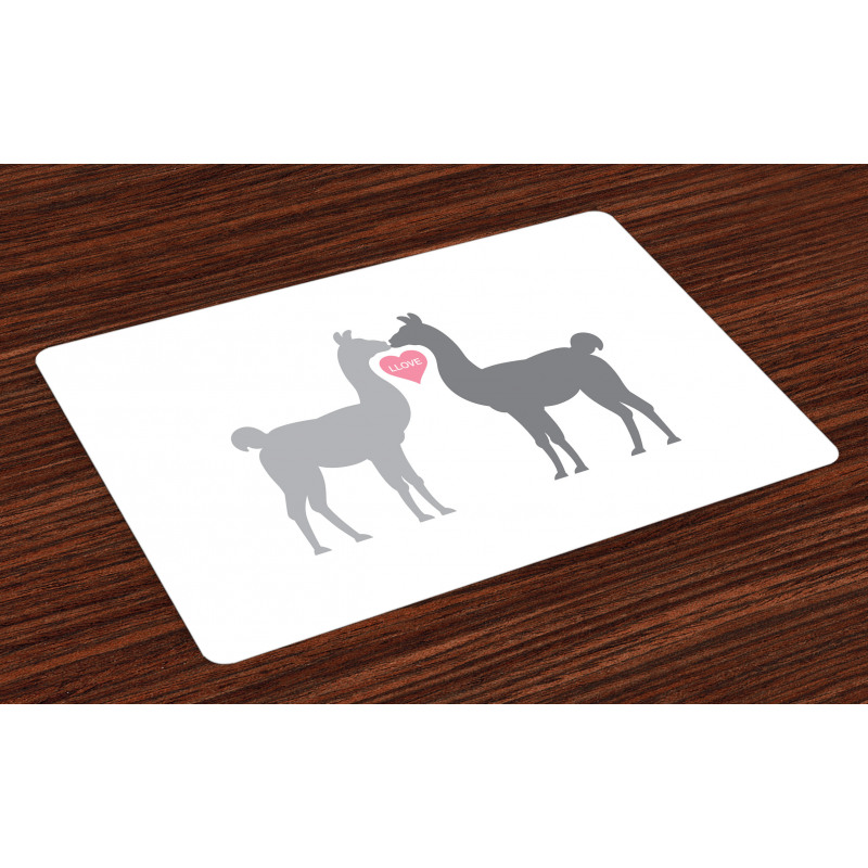 2 Animals in Love Place Mats