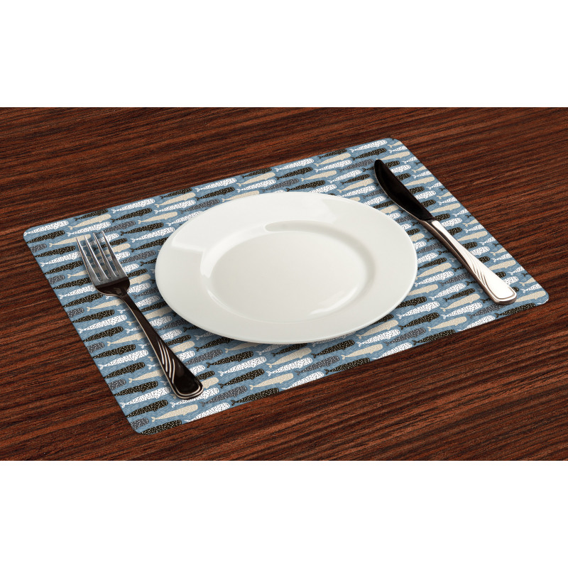Abstract Art Silhouettes Place Mats