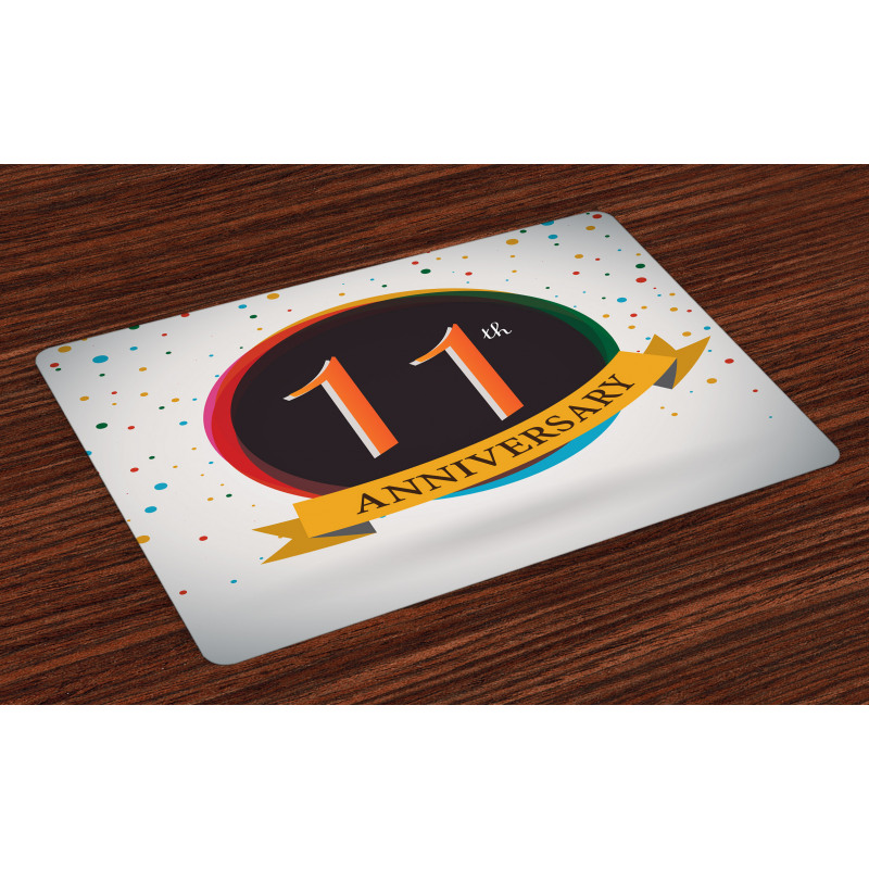 11 Year Retro Style Place Mats