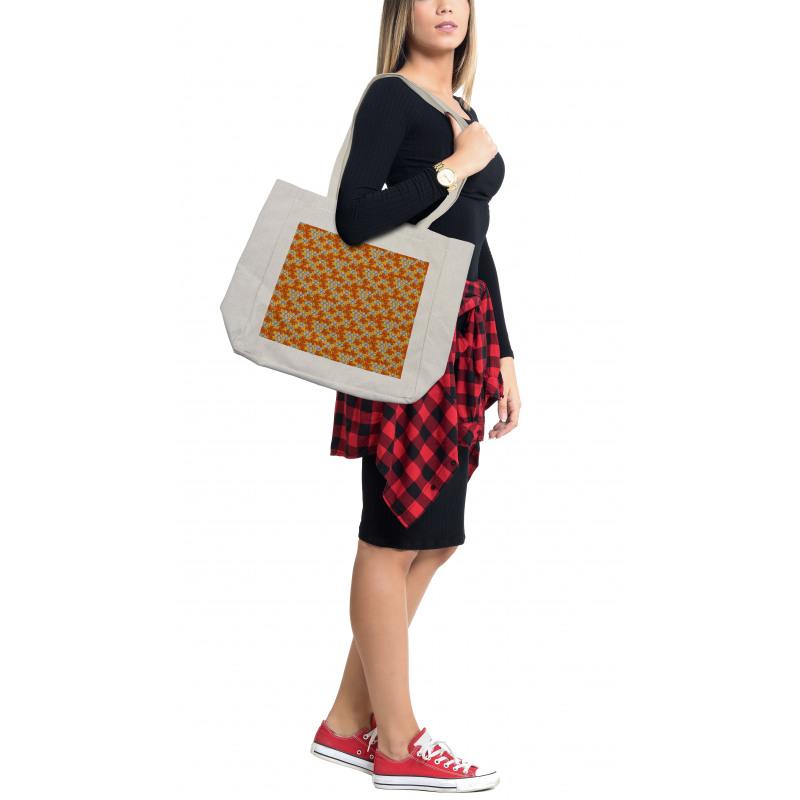 Abstract Autumn Flora Shopping Bag
