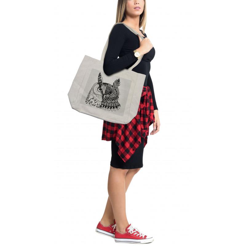 2 Animal Faces Design Shopping Bag