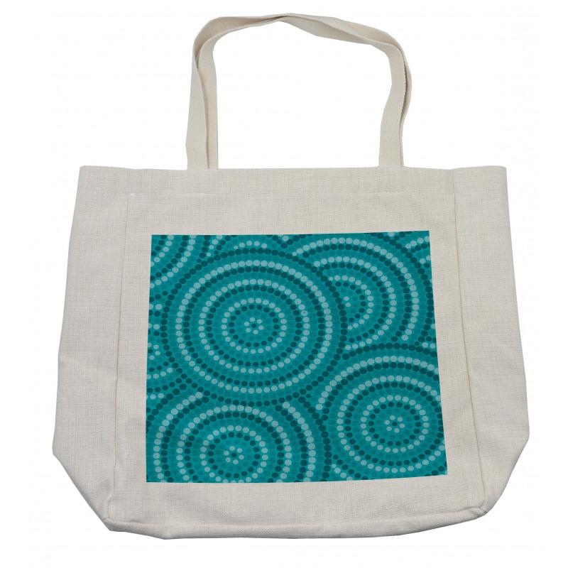Abstract Australian Dots Shopping Bag