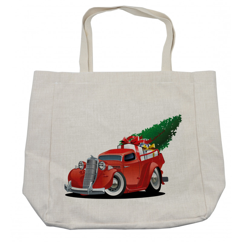 Red American Truck Shopping Bag