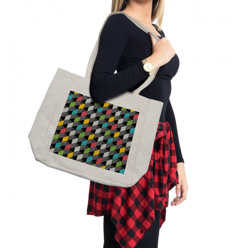 Abstract Art Style Shopping Bag