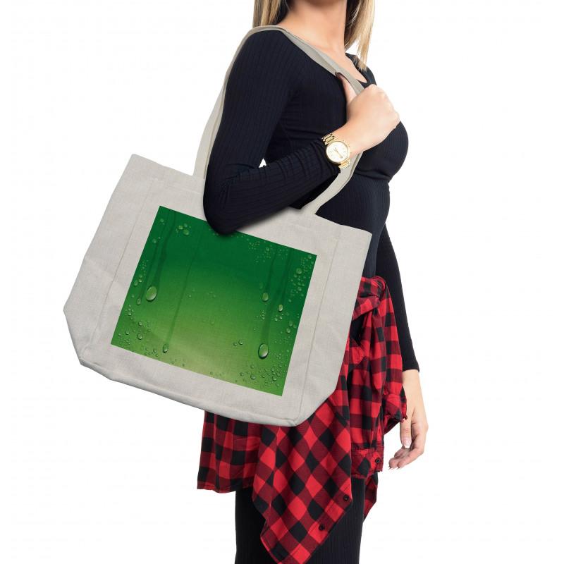 Abstract Art Water Drops Shopping Bag
