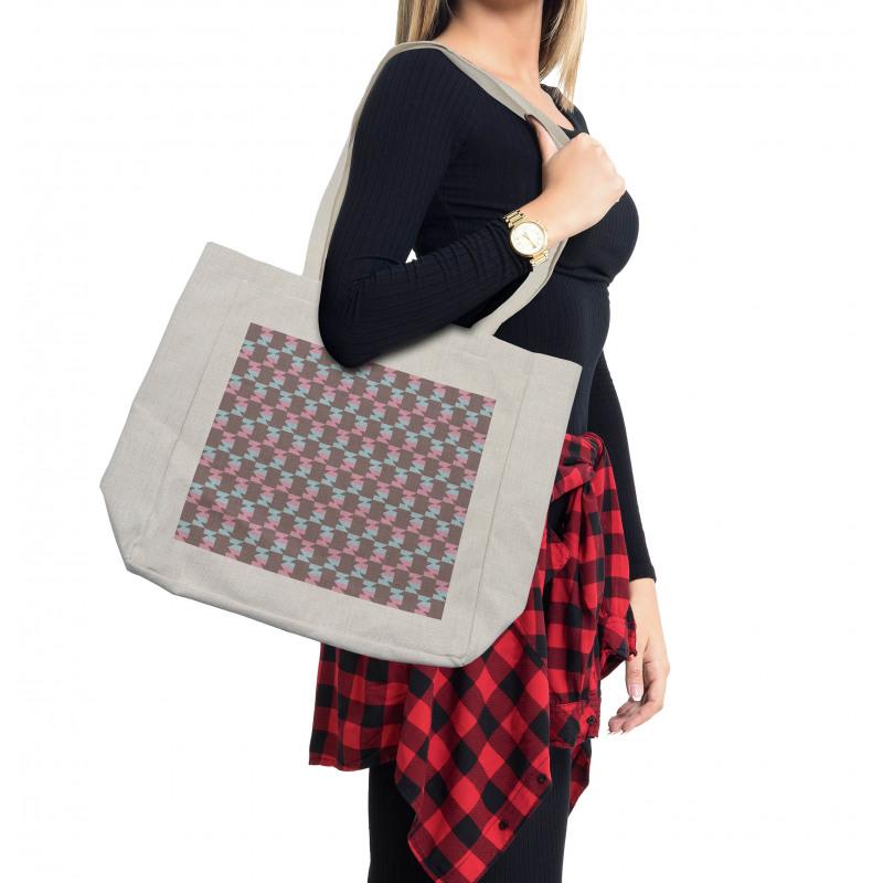 Abstract Arrow Design Shopping Bag