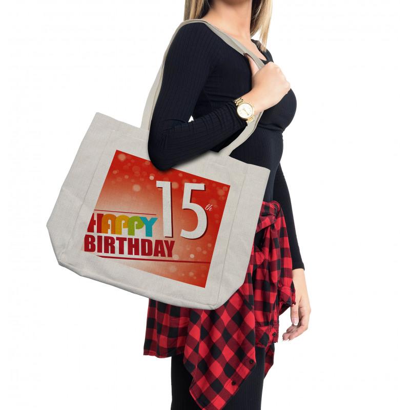 15th Birthday Concept Shopping Bag