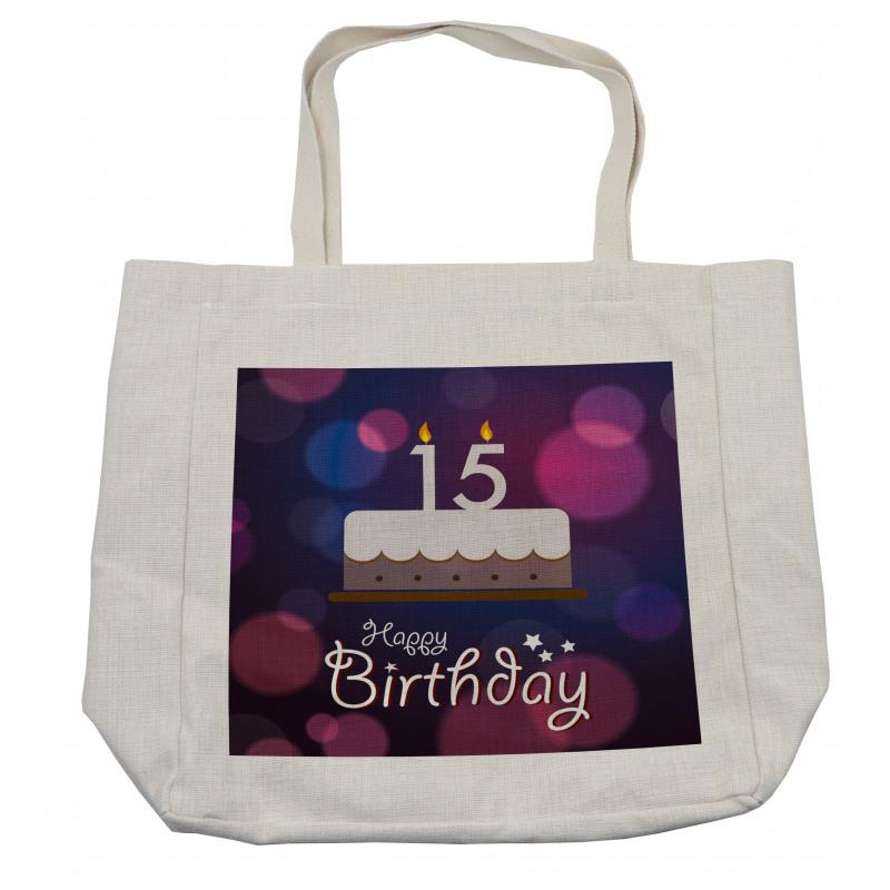 15 Birthday Cake Shopping Bag
