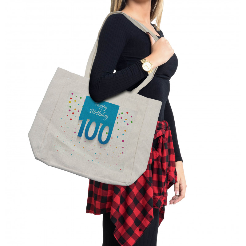 100 Years Birthday Shopping Bag