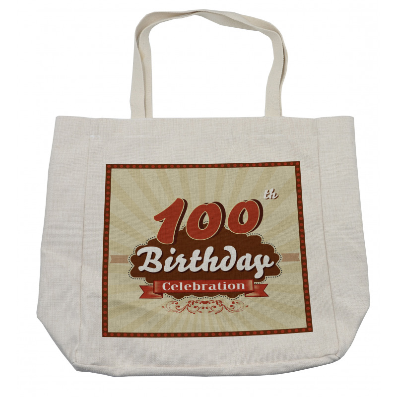 100 Old Party Invite Shopping Bag