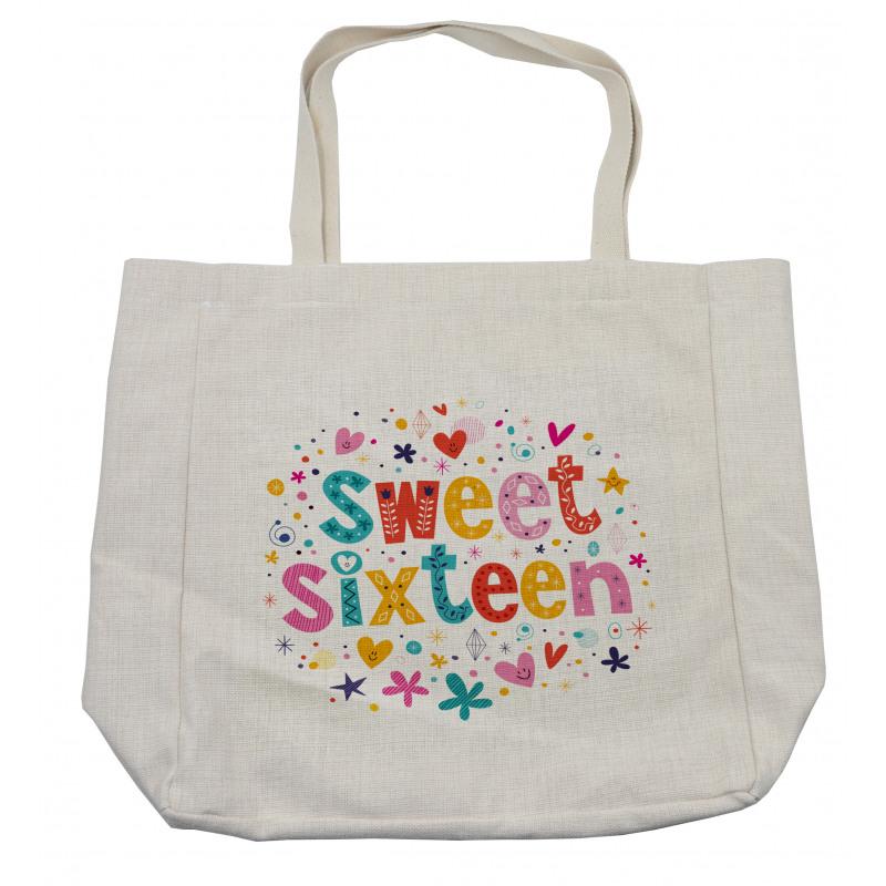 16 Blossoms Shopping Bag