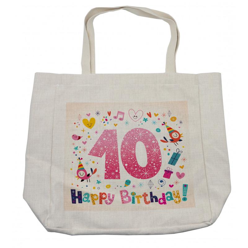 10 Years Kids Birthday Shopping Bag