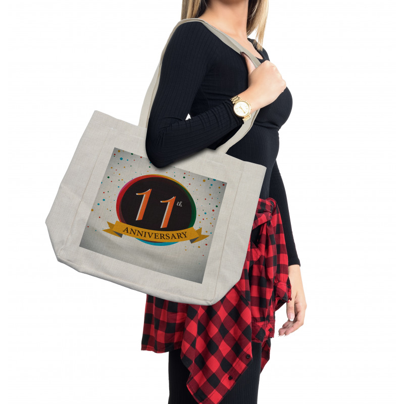 11 Year Retro Style Shopping Bag