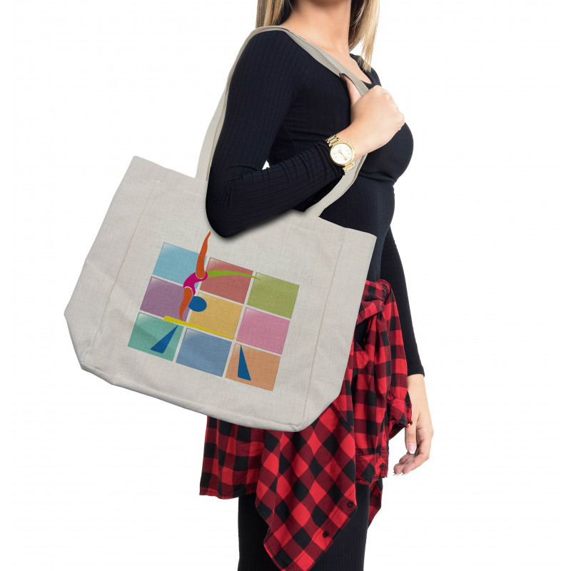 Abstract Athlete Shopping Bag