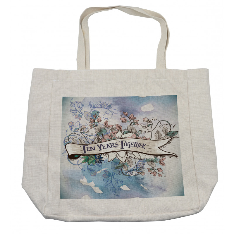 10 Years Floral Art Shopping Bag