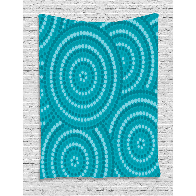 Abstract Australian Dots Tapestry