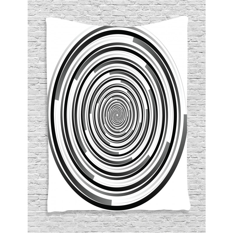 Abstract Art Spirals Tapestry