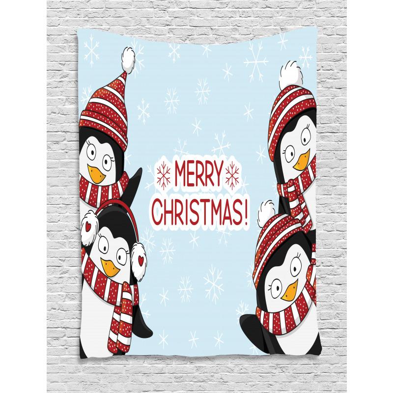 Penguins Kids Tapestry