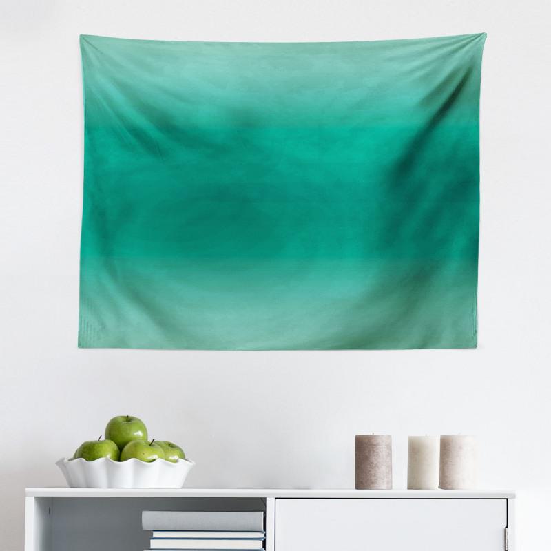 Mikrofiber Geniş Duvar Halısı Yeşilin Tonları
