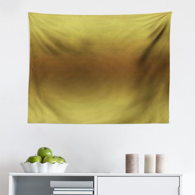 Mikrofiber Geniş Duvar Halısı Zeytin Yeşili Desenli