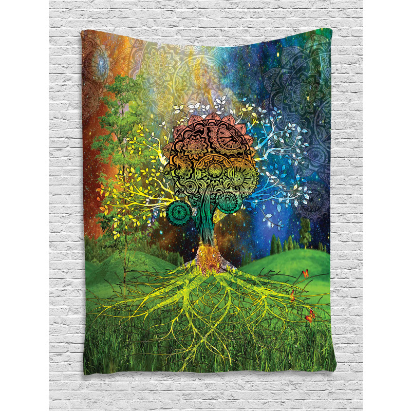 Mother Earth Theme Tapestry
