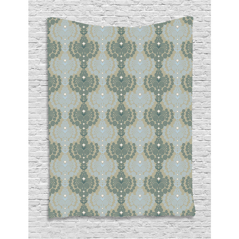 Abstract Art Floral Tapestry