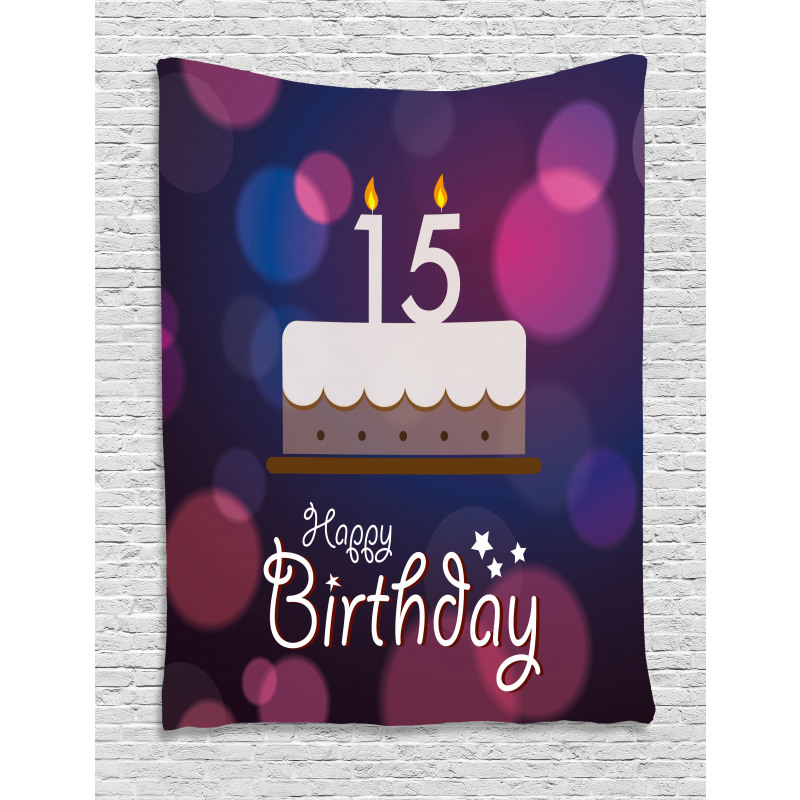 15 Birthday Cake Tapestry