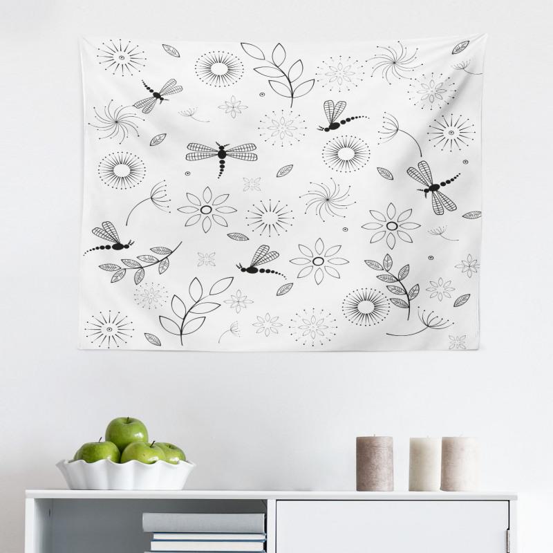 Bahar Mikrofiber Geniş Duvar Halısı Siyah Beyaz Yusufçuk