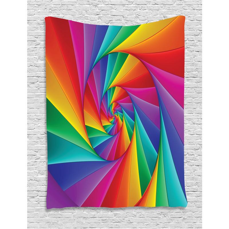 Abstract Art Vivid Swirl Tapestry