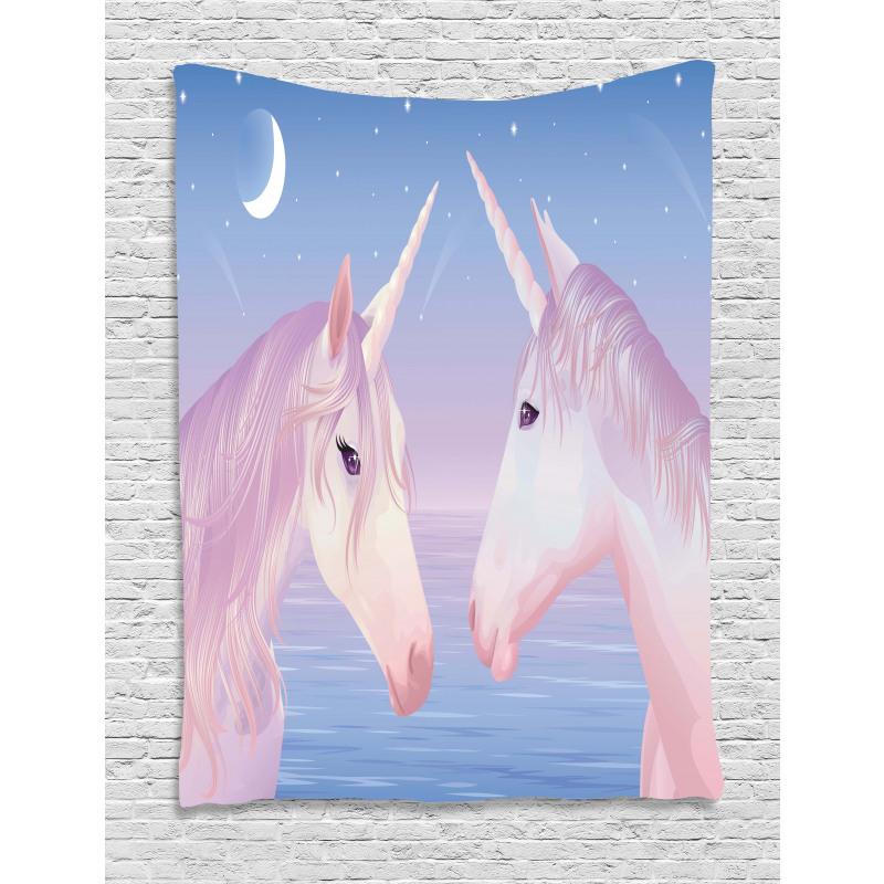 2 Akhal Teke Unicorns Tapestry