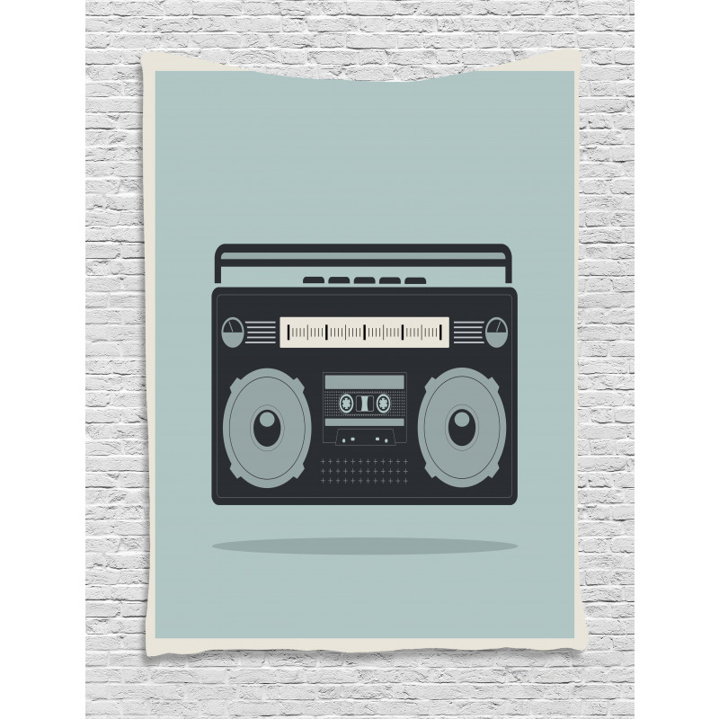 1980s Boombox Image Tapestry