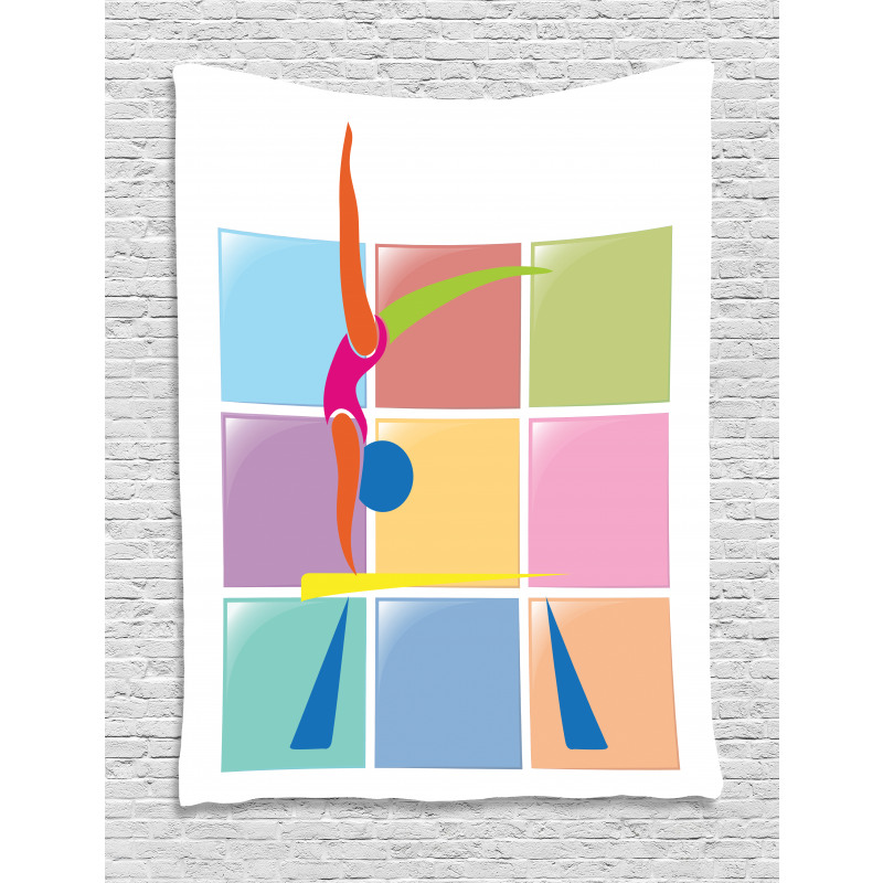 Abstract Athlete Tapestry