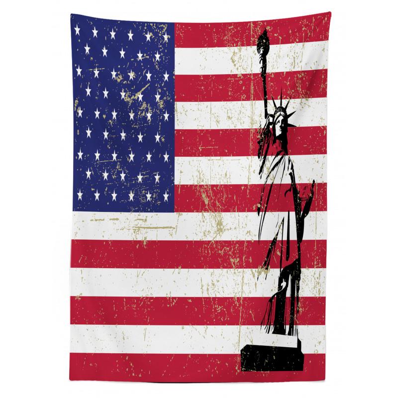 ABD Masa Örtüsü Özgürlük Heykeli