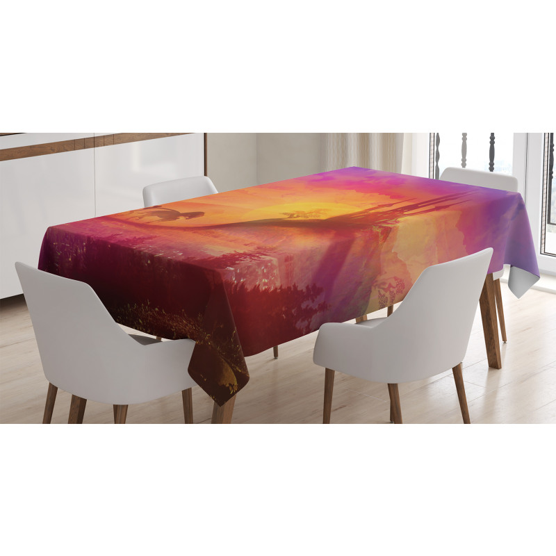 Medieval Castle Kingdom Tablecloth