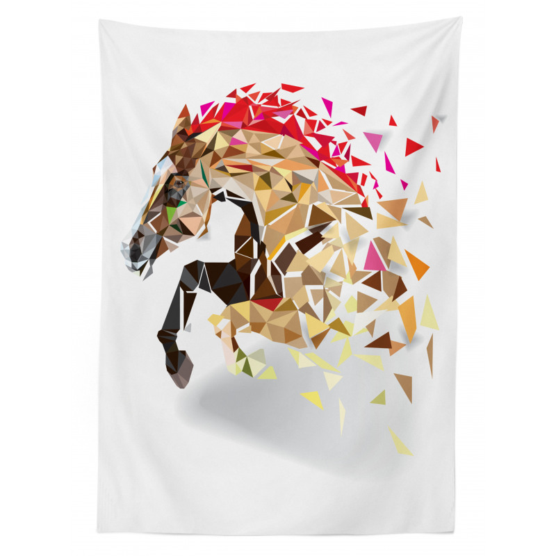 Abstract Art Wild Horse Tablecloth