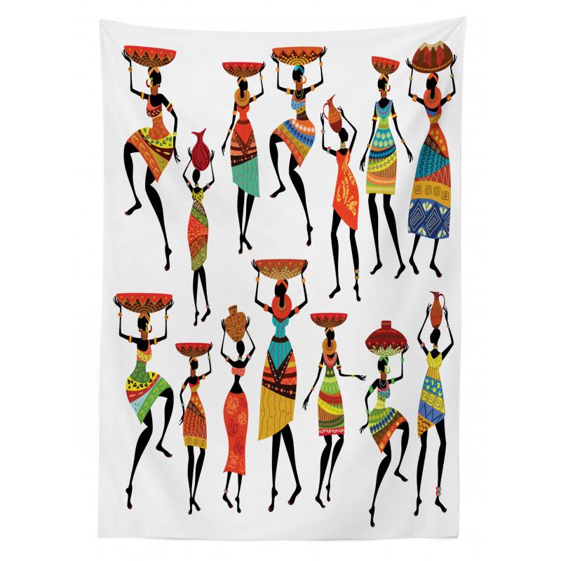 Afrika Masa Örtüsü Etnik Kültür Folk Yerli Kadın Figürleri