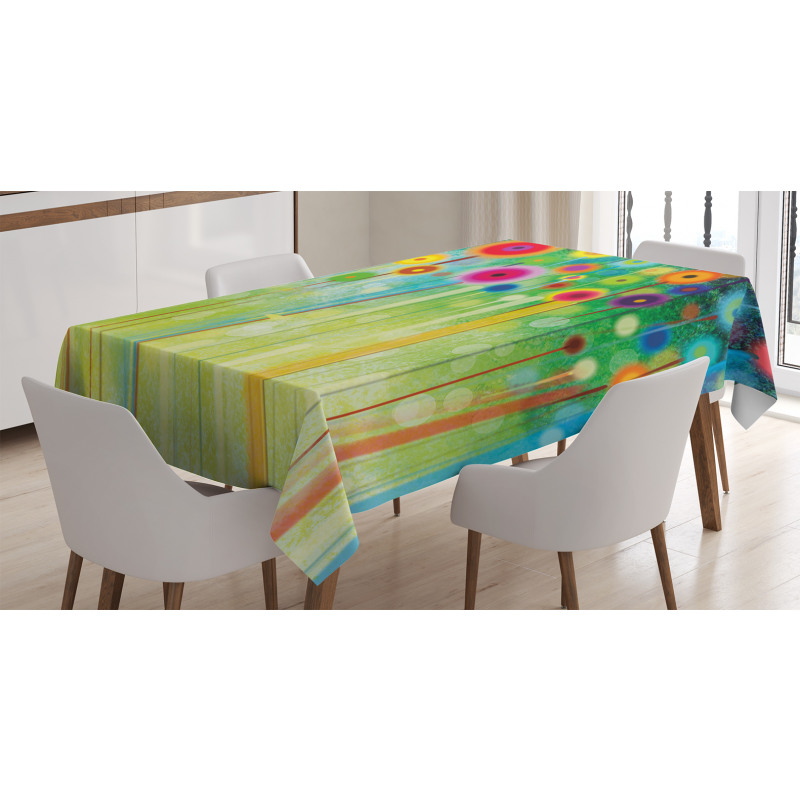 Abstract Art Dandelion Tablecloth