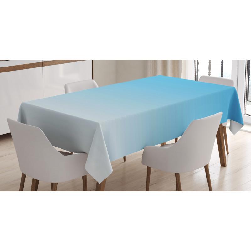 Masa Örtüsü Mavi ve Beyaz Desenli