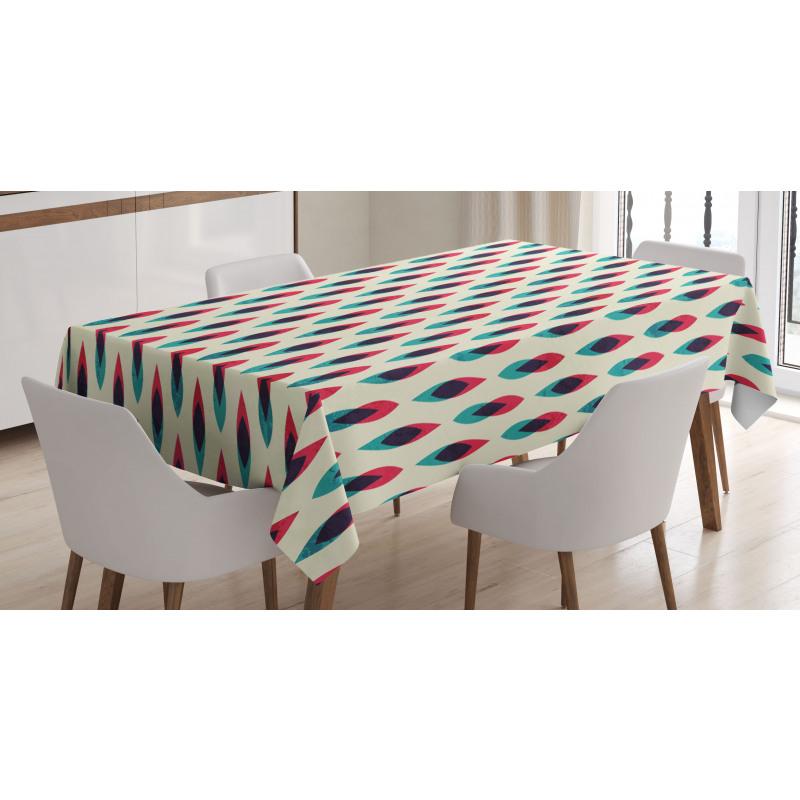Geometric Curve Pattern Tablecloth