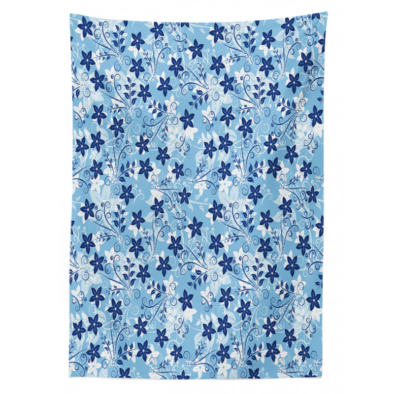 Floral Pattern Swirl Tablecloth