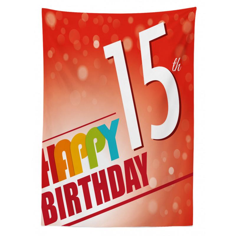 15th Birthday Concept Tablecloth