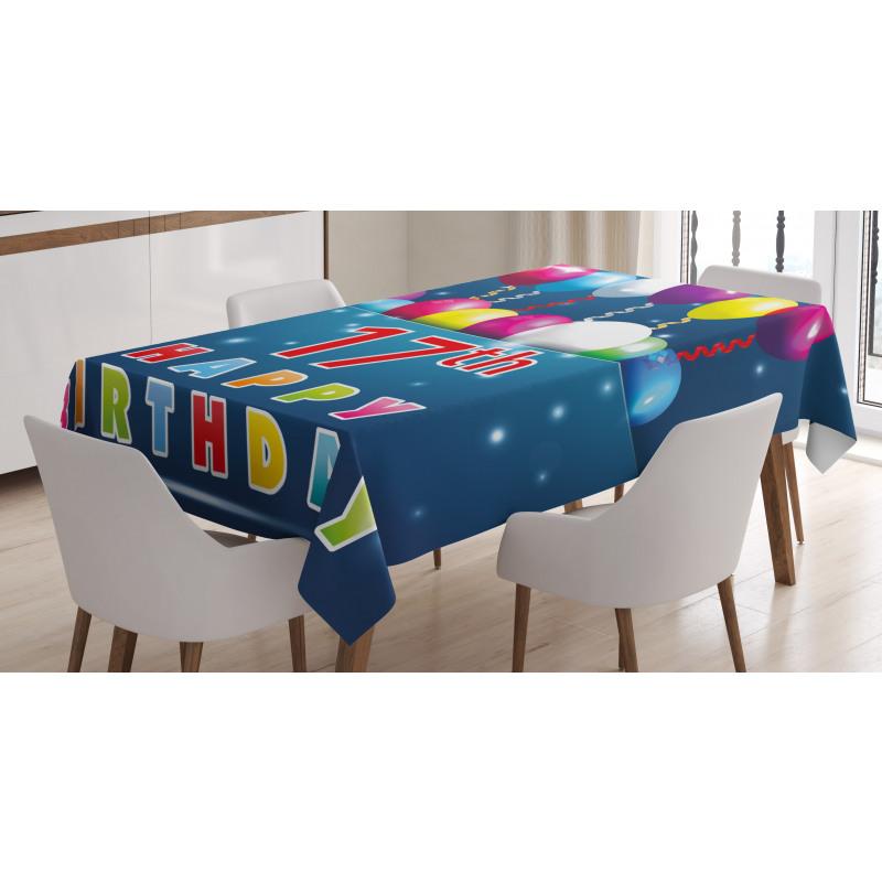 17 Birthday Tablecloth