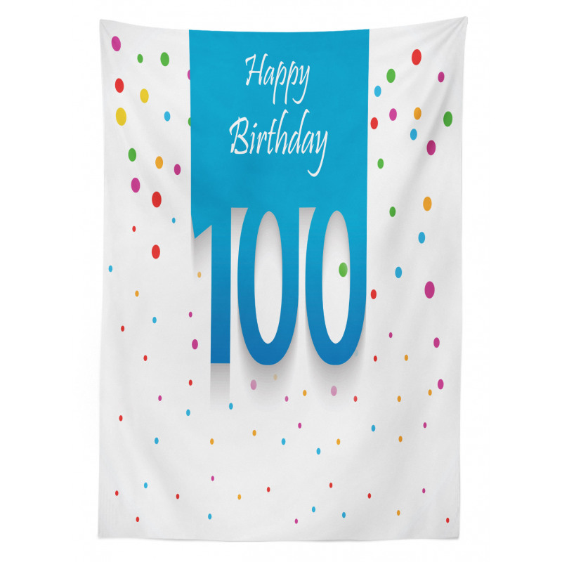 100 Years Birthday Tablecloth