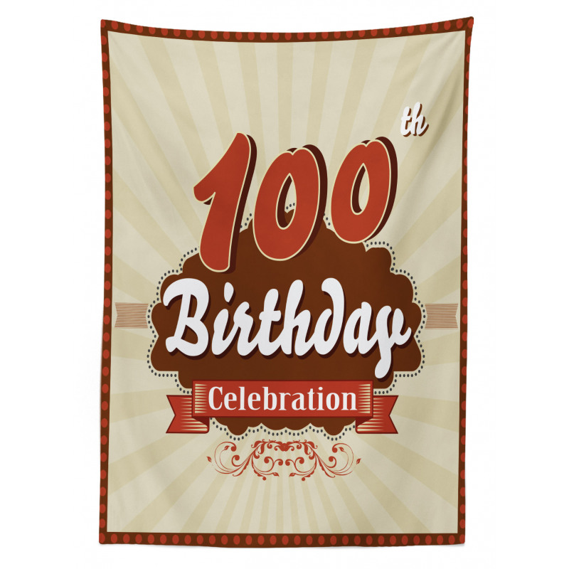 100 Old Party Invite Tablecloth