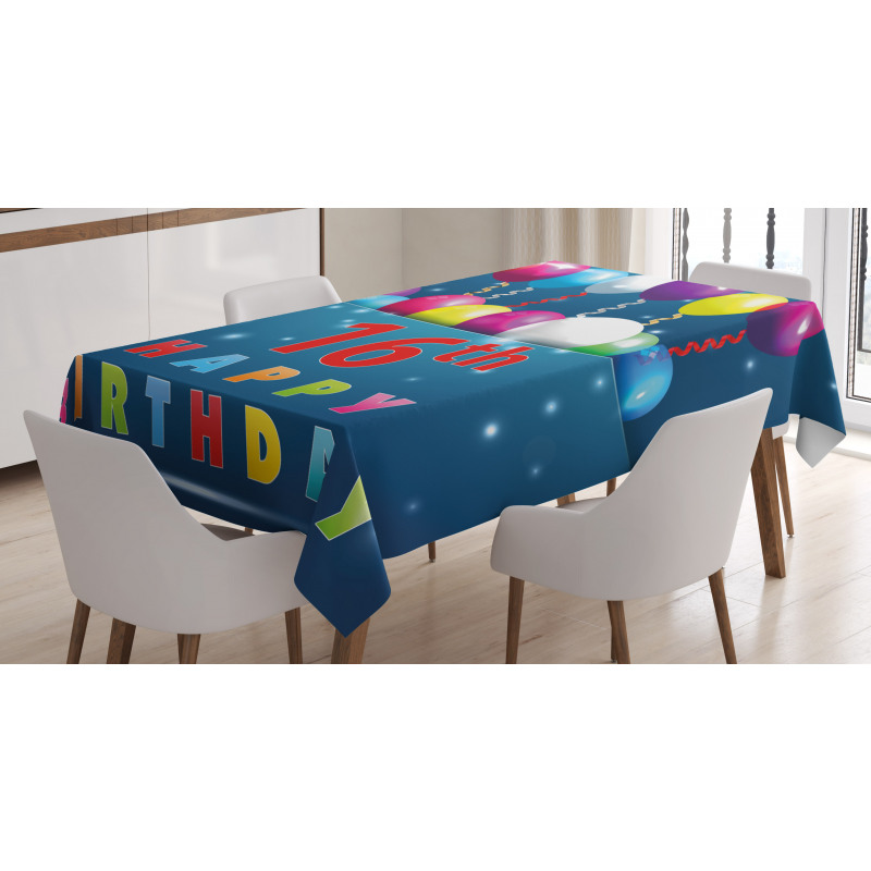 16 Party Tablecloth
