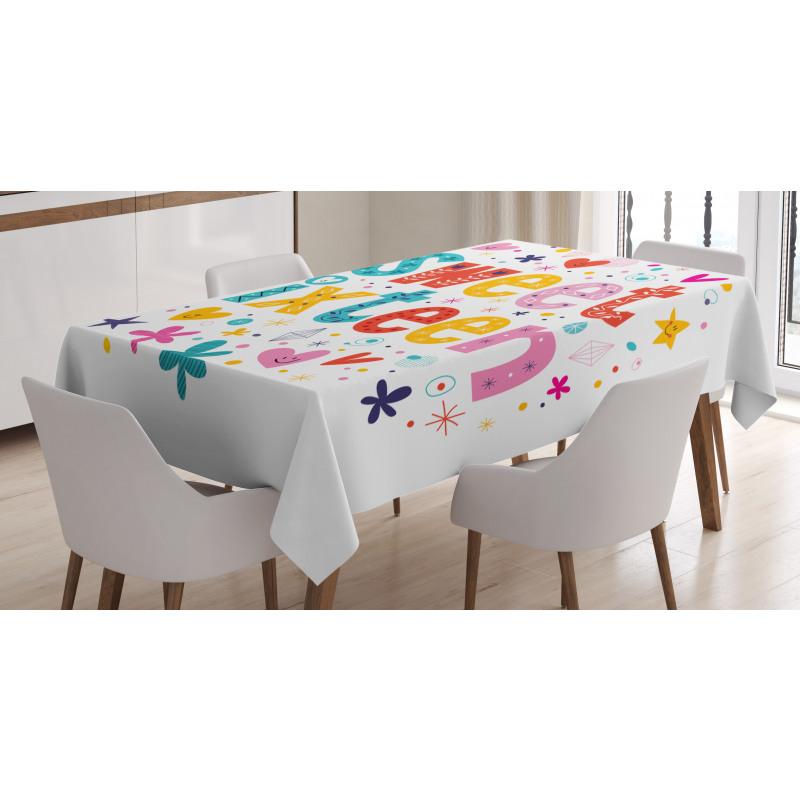 16 Blossoms Tablecloth